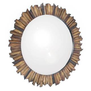 Nature's Reflection Brown Reclaimed Wood Wall Mirror