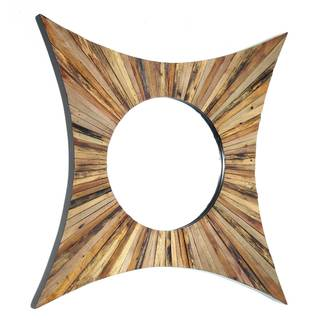 NA Karman Brown Wood Mirror
