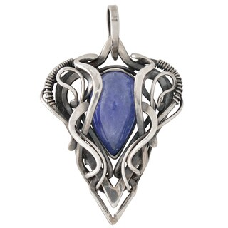 Healing Stones for You Tanzanite Wire Wrapped Pendant 'Khione'
