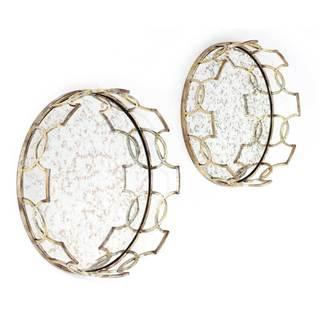Acantha Decorative Mirrored Trays (Set of 2)