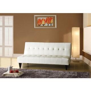Conrad White Polyurethane/Wood/Foam Adjustable Sofa