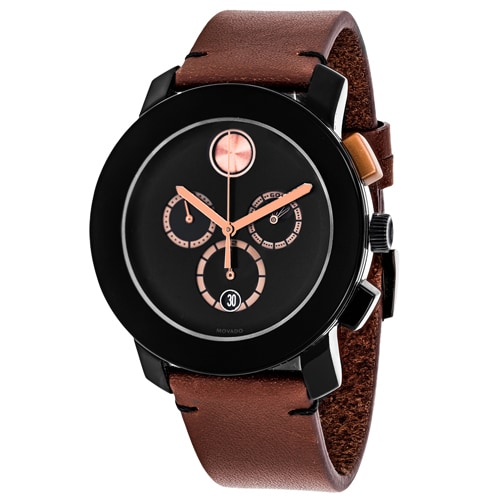 5f40823d9e16b Shop Movado Men s 3600348  Bold  Chronograph Brown Leather Watch - Free  Shipping Today - Overstock - 12025614