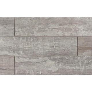 Bedrosians Grey, Tan, White Porcelain Tile (Case of 16 Tiles)