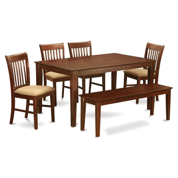 Shop Capri Mahogany Finish Solid Rubberwood 6-Piece Dining