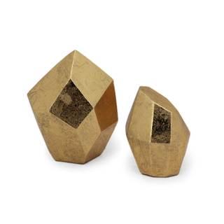 NA Dashiell Gold Ceramic Trays (Set of 2)