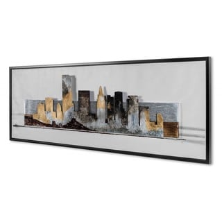 NA City 'Silhouettes VI' Framed Canvas Art