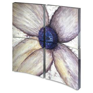 Flower Flow I 4-panel Square Unframed Canvas Art
