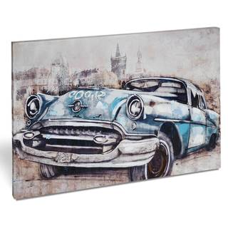 'Vintage Car in Blue' Canvas Art