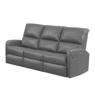 Monarch Black Bonded Leather Reclining Sofa