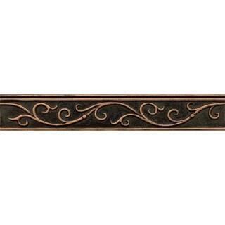 Bedrosians Gothic Leaf Vene Bronze Metal Resin Single Tile
