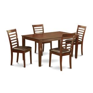 CAML5-MAH Mahogany Rubberwood 5-piece Dining Set