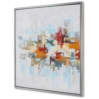 NA 'Projection I' Multicolored Canvas Art