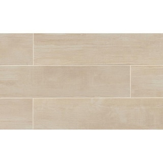 Bayou Country Blanc Porcelain Tile (Box Of 12 Tiles)