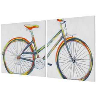 Bicycle Diptych 2-piece Canvas Art