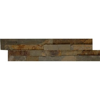 Bedrosians Ledger Nat Cleft Brown Stone Tile (Pack of 5 Tiles)