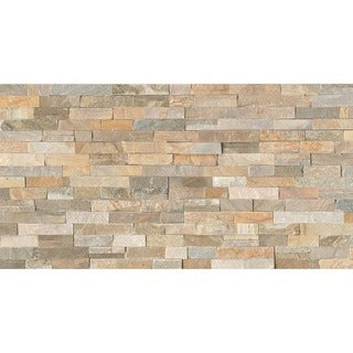 Bedrosians Ledger Nat Cleft Beige Stone Tiles (Pack of 5 Tiles)
