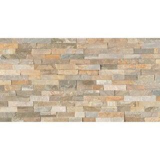 Bedrosians Ledger Nat Cleft Beige Stone Tiles (Pack of 5 Tiles)