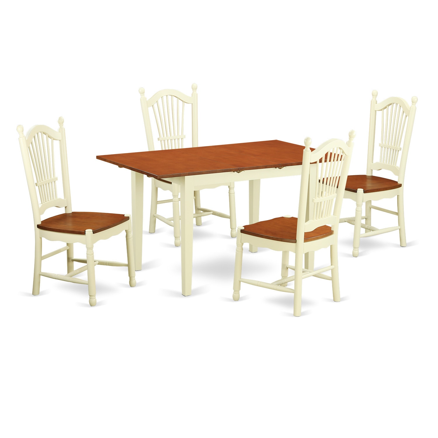 5-piece Dinette Set with Dinette Table and 4 Dinette Chai...