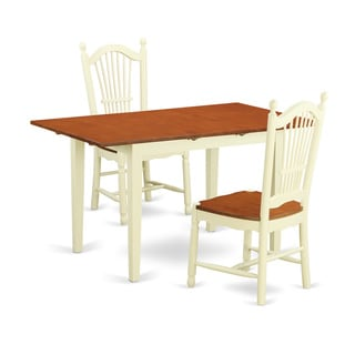 3-piece Dinette Set with Dining Room Table and 2 Kitchen Dining Chairs