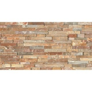 Bedrosians Split Face Ledger Beige Stone Tiles (Pack of 4 Tiles)