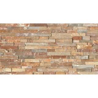 Bedrosians Split Face Ledger Beige Stone Tiles (Pack of 4 Tiles)