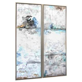 NA 'Cool Morning II' Multicolored Framed Canvas Art (Set of 2)