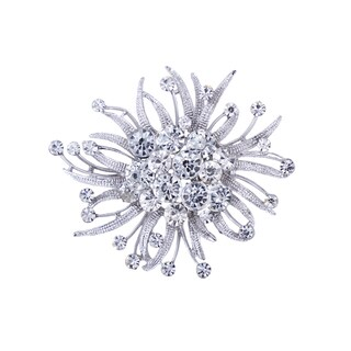 5A12 Silver Rhinestone Brooch (Option: Silver)