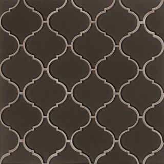 Bedrosians Mallorca Collection Glass Arabesque Mosaic Cliff Tile (Box of 11 Sheets)