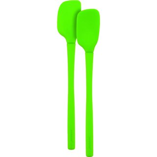 Tovolo Flex-Core All Silicone Spring Green Mini Spatula and Spoonula (Set of 2)