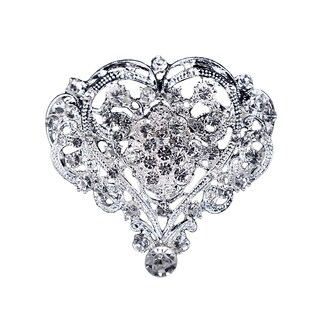 RBK66 Silver Rhinestone Brooch (Option: Silver)