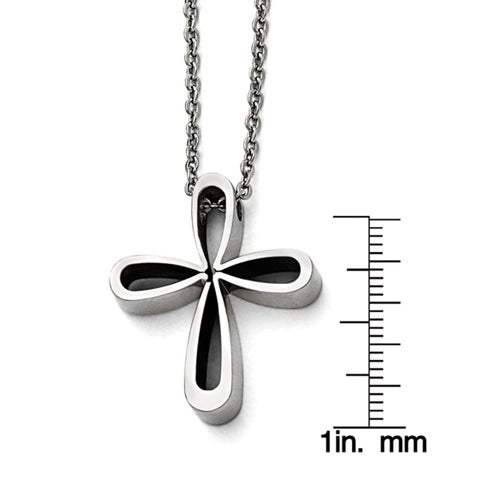 Versil Stainless Steel Cross Necklace