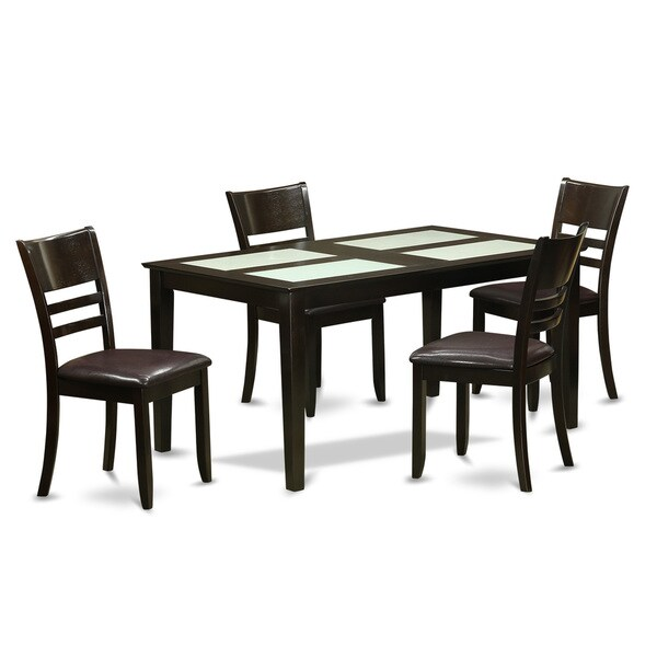 Shop Cappuccino Finish Rubberwood 5-piece Dining Room Set