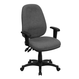 Bener GG-RG-166-TB Grey Fabric Executive Adjustable Ergonomic Performance Swivel Office Chair