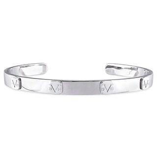 V1969 ITALIA Men's Logo Mark Bangle Bracelet in Sterling Silver