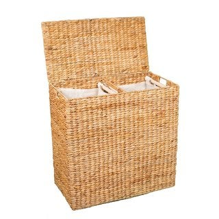 BirdRock Home Honey Over-sized Divided Hamper with Liners