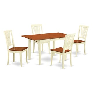 5-piece Dinette Set For 4-kitchen Table and 4 Dining Chairs
