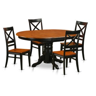Avon Rubberwood 5-piece Dining Set with Table and 4 Chairs