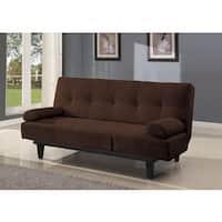 Cybil Brown Faux Leather, Foam, Wood Adjustable Sofa