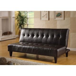 Espresso PU Conrad Adjustable Sofa