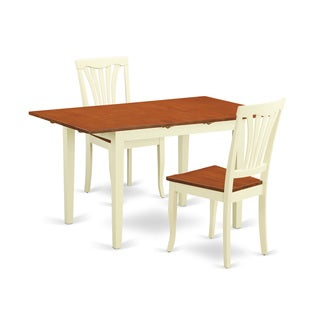 3-piece Dining Room Set with Dining Table and 2 Dining Chairs