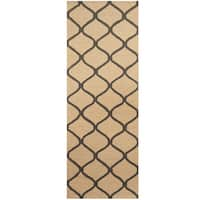 Herat Oriental Indo Hand-tufted Trellis Wool Runner (2'6 x 7')