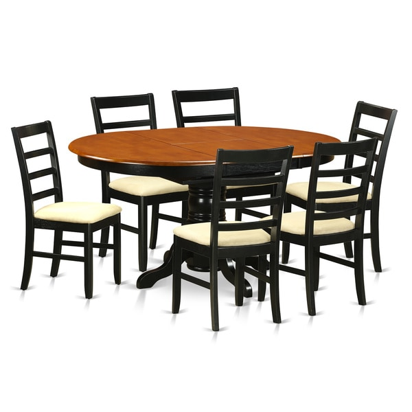 Napa 9 Piece Dark Cherry Finish Formal Dining Room Table: Shop Avon Black And Cherry Finish Solid Rubberwood 7-Piece