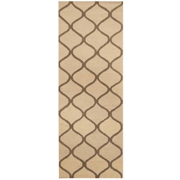 Handmade Herat Oriental Indo Trellis Wool Runner (India) - 2'6 x 7'