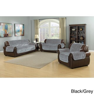 Quick Fit Joseph Collection Quilted Reversible Waterproof Loveseat Protector With Pockets (3 options available)