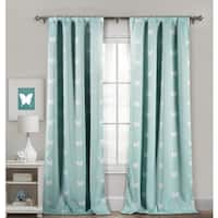 Lala Bash Wink Butterfly Printed Blackout Curtain Panel Pair - 39x84""