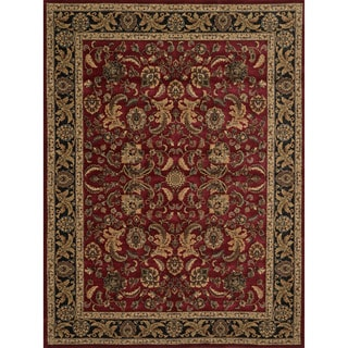Dorchester Red/ Charcoal Rug (2' x 3')