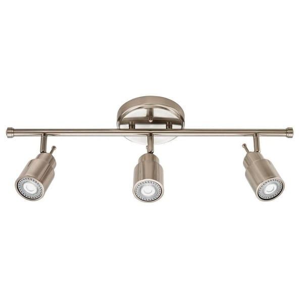 Led Track Lighting Brushed Nickel: Shop Lithonia Lighting 2 Ft. 3-light Brushed Nickel LED