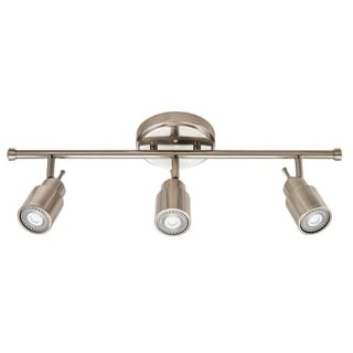 Lithonia Lighting 2 ft. 3-light Brushed Nickel LED Track Lighting Fixed Kit