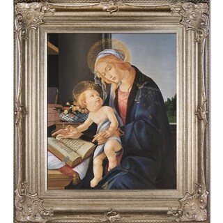 Sandro Botticelli 'Madonna of the Book' Hand Painted Framed Canvas Art