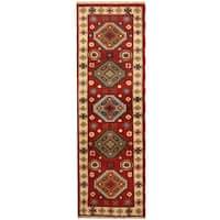 Herat Oriental Indo Hand-knotted Tribal Kazak Wool Runner (2'1 x 6'6) - 2'1 x 6'6